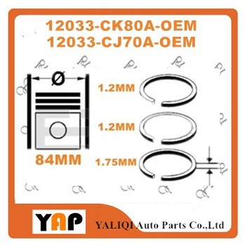 MR20DE MR20 PISTON RING SET FOR FITNISSAN SYLPHY QASHQAI TEANA X-TRAIL G11Z J10Z J32Z T31Z 2.0L L4 STD 12033-CJ70A 12033-CK80A