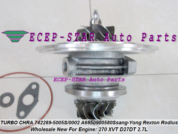 Turbo Cartridge CHRA GT2056S 742289 742289-5001S 742289-0003 742289-0002 A6650901280 For Ssang Yong Rexton Rodius 270 XVT D27DT