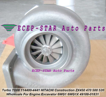 Turbocharger TD08H-31M 49188-01830 4918801830 49188-01832 114400-4440 1144004440 Turbo ZX470 ZX500 ZX520 ZX870H-3 870 6WG1X