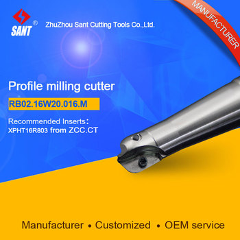 Suggested BMR03-016-XP20-M Indexable Milling cutter SANT RB02.16W20.16.M with XPHT16R803 carbide insert