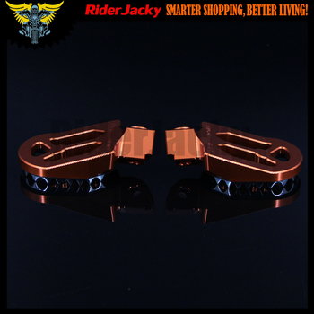 CNC Aluminum Orange Motorcycle foot rests footrest footpegs Pegs Pedals For KTM 250 SX/EXC 1998-2010 2011 2012 2013
